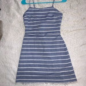 Stripe Summer Dress with Back Tie